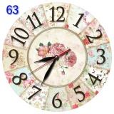 Beli 63 Jam Dinding Cantik Hiasan Interior Ruang Motif Bunga Shabby Chic Cicilan
