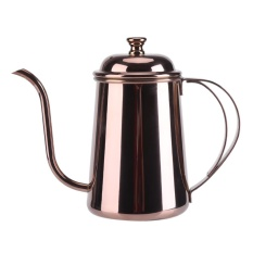 650ML Stainless Steel Gooseneck Spout Kettle Pour Over Coffee Tea Home Brew Drip Pot Rose Gold - intl