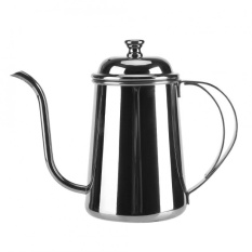 650 Ml Stainless Steel Gooseneck Moncong Ketel Pour Over Coffee Tea Home Brewing Drip Pot Silver-Intl