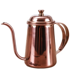 650 Ml BER Yang Elegan Stainless Steel Gooseneck Moncong Ketel Panjang Mulut Drip Cokelat Kehitaman Teh Ketel Teko For Home Office Outdoors Rose Emas