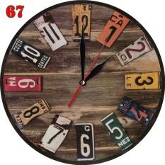 67 Jam Dinding Model Retro Motif Kayu Palet dan Plat 380f8ba266