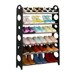 6/8/10 Tiers Adjustable Shoes Shelf DIY Metal Storage Organizer Ruggedized Shoe Tower Rack Multilayer Holder Household Stands Space Saving
