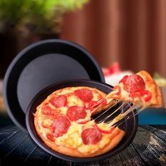 6/9 Inch Round Pizza Baki Panci Baja Karbon Tidak Lengket Oven Pizza Plate Pan-Intl