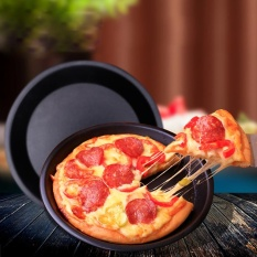 6/9 Inch Round Pizza Pan Tray Baja Karbon Non-stick Oven Pizza Plate Pan-Intl