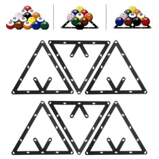 6PCS 8 9 or 10 Ball Magic Rack Positioning Billiard Pool Cue Accessory Black - intl