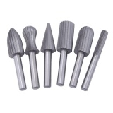 Review 6Pcs Carbide Cutter Rotary Burr Set Cnc Engraving Bit Rotary File Intl Terbaru