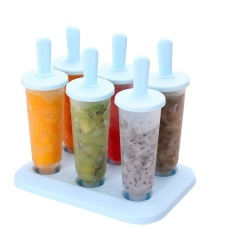 6PCS Colorful Freezer Pop Popsicle Frozen Mold Ice Cream Yogurt Juice Maker by LuckyG - intl