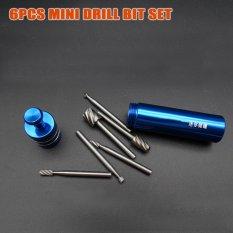 6 Pcs Dremel Alat Putar Mini Bor Bit Set Alat Pemotong untuk Woodworking Alat Ukir Kayu Kit dengan Blue Storage Jar HW289-Intl