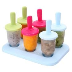 6 Pcs Freezer Es Loli Pop Beku Cetakan Es Krim Yoghurt Pembuat Jus-Intl
