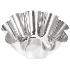 6 Pcs Stainless Steel Egg Tart Cupcake Mold Baking Cup (perak)-Intl