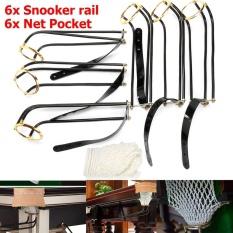 6 Pcs Standar Pool Snooker Billiard Table Solid Kuningan Kekaisaran Rail Kantong Bersih-Intl