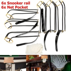 6 Pcs Standar Pool Snooker Billiard Table Solid Kuningan Kekaisaran Rail Kantong Bersih-Intl By Freebang.