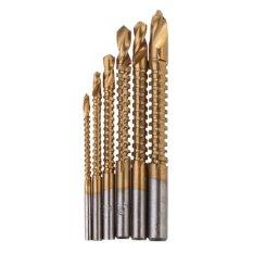 Ulasan Lengkap 6 Buah Titanium Dilapisi Hss Bor Gergaji Tukang Kayu Dan Plastik Kayu Logam