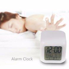 7 LED Color Change Digital Glowing Alarm Thermometer Clock  - Jam Alarm Jam Beker Jam Led Jam Warna Warni Jam Unik Jam Best Seller Jam Murah Jam Kekinian Jam Dinding Kado Unik Jam Keren Jam Meja