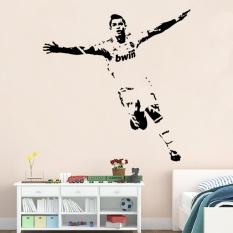75x55 Cm Removable PVC Seni Mural Sepak Bola Cristiano Ronaldo Dinding Stiker untuk Anak-anak dan Anak-anak Dekorasi Kamar-Internasional