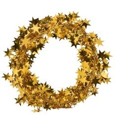 7.5 M Kawat Panjang Natal Star Rotan Tebu Dekorasi Gift Pure Warna Pita Emas-Intl
