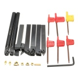 Jual 7 Pcs 12Mm Pisau Bubut Membosankan Bar Mengubah Dudukan Alat Set Dengan Carbide Sisipan Internasional Not Specified
