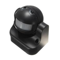 7 Pcs 180 ° Putih atau Hitam Hunian Sensor PIR Gerak Saklar Lampu Terpasang Di Dinding 12 M Hitam-Intl