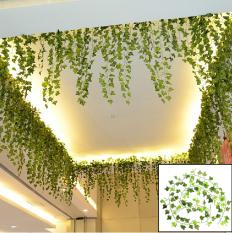 Jual 8 2 Kaki Gantung Buatan Ivy Leaf Daun Tanaman Vine Fake Dedaunan Pesta Satu Set
