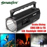 8000Lm Cree Xm L T6 Led Scuba Diving Underwater 100 M Senter Torch Waterproof Intl Terbaru