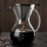 Review Pada 800 Ml Kaca Ceret Penuang Kopi Manual Hand Drip Coffee Maker Carafe Coffeemaker Pot Dengan Stainless Steel Permanen Filter Intl