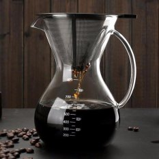 Rp 531.000 800 Ml Kaca Ceret Penuang Kopi Manual Hand Drip Coffee Maker-Carafe Coffeemaker Pot dengan Stainless Steel ...