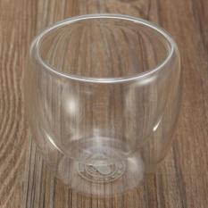 80 Ml Double Wall Glass Coffee Tea Cup Rumah Dapur-Internasional