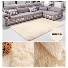 80X120 Cm Murni Ruang Tamu Putih Keset Lantai Karpet Yoga Luas Karpet Kamar Footcloth-Intl