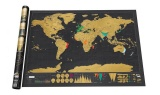 Toko 82 5X59 4 Cm Scratch Map Black Scratch Map Dapat Menggores Planimetric Map Versi Dunia Travel Life Murah Di Tiongkok