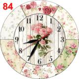 Promo 84 Jam Dinding Shabby Chic Unik Lucu Bahan Mdf Motif Bunga Akhir Tahun
