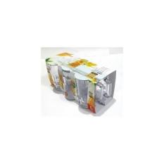 Spesifikasi 1 Set 853 Gelas Teh Gagang 1 Set Isi 6 Pcs Putih Bening Golden Dragon Baru