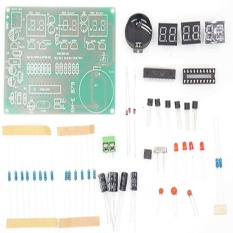 86087 DIY Kits AT89C2051 Electronic Clock Digital Tube LED Display Suite Electronic Module Parts and Components DC 9V - 12V