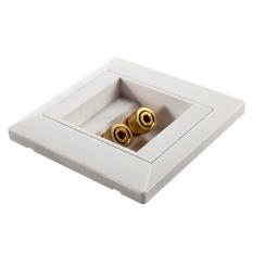 Spesifikasi 86X86Mm 2 Binding Post Banana Plug Audio Jack Wall Face Plate Panel Speaker Yg Baik