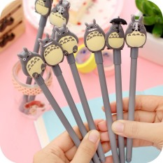 Review Tentang 8Pcs Kawaii Cartoon Anime My Neighbour Totoro Gel Pen Writing Sch**l Stationary Gift Intl