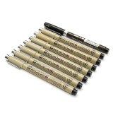 Harga 8 Pcs Sakura Micron Brush Drawing Pen Hitam Garis Halus Lukisan Seni Sketsa Supply Baru Intl Termahal