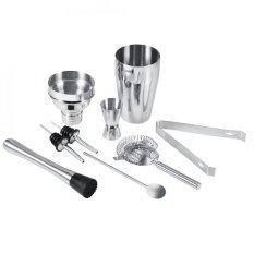 Toko 8Pcs Stainless Steel Cocktail Shaker Set Ice Tong Mixing Spoon Pourers Bar Tools Intl Lengkap