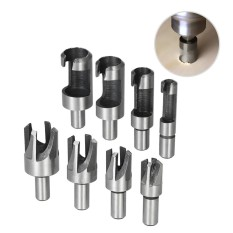 Beli 8Pcs Wood Plug Hole Cutter High Carbon Steel Cutting Tool Drill Bit Set Straight Four Tooth Chamfered Cutters Long Drills Wooden Plug Drill 5 8 1 2 3 8 1 4 10Mm Shank Intl Online Terpercaya