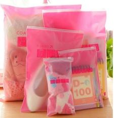 8 Pcs/sets Transparan Waterof Pakaian Kaus Kaki Pakaian Bra Sepatu Tas Penyimpanan Travel Wash Tect Kosmetik Penyimpanan Plastik Bag Pink -Intl
