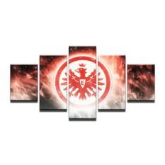 8x14inX2 8x18inX2 8x22inX1 5 Panel Eintracht Frankfurt Football AG Penggemar Lukisan Kanvas Dinding Seni Mencetak Dekorasi Rumah Panel Gambar Poster untuk Dekorasi Hidup (TANPA Bingkai) -Intl