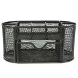 9 Grid Metal Mesh Desk Organizer Storage Black Intl Easygobuy Diskon 30