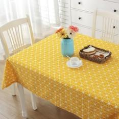 90*150 Cm Geometris Pola Bergaris Tableclothn Fashion Gaya Eropa Meja Persegi Panjang Meliputi Hotel Rumah Kitchen Table Cloth- INTL
