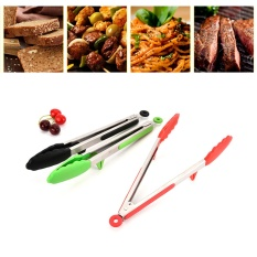 Diskon 9 Stainless Steel Silicone Tongs Bbq Klip Salad Melayani Clamp Kitchen Utensil Intl Hong Kong Sar Tiongkok