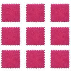 9 Buah 30.99 Cm X 30.99 Cm E EVA Busa Mewah Antislip Keselamatan Bantal Nyaman dan Lembut Karpet Lantai Tikar For The Bathroom Rumah Bantalan Teka-teki Kamar Anak Ruang Tamu Kamar Dar Jendela Lorong Kantor Red Ones- Internasional