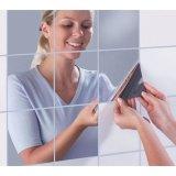 Harga 9 Pcs Set 15 Cm Square Cermin Kamar Mandi Paster Big Mosaic Lem Belakang Cermin Dekoratif Stiker Intl Termahal