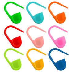 Sebuah Tas Berisi Sekitar 100 Buah Renda Rajut Plastik Pengunci Stitch Marker Klip Jarum Alat Campuran Warna