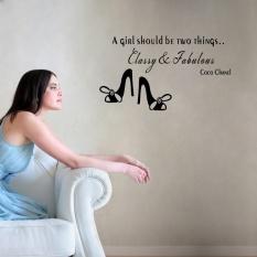 Seorang Gadis Harus Dua Hal Klasik dan Menakjubkan Inspirasional Wall Art Stiker untuk Dekorasi Rumah Removable