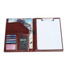Beli A4 Pu Kulit Dokumen Folder Bisnis Konferensi Portofolio Case With Kalkulator Cokelat Dengan Kartu Kredit
