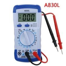 A830l LCD Digital Multimeter DC Tegangan AC Diode Freguency Multitester Volt Arus Ujian Penguji-Internasional