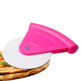 Abs Handle Stainless Steel Pizza Cutter Dengan Penutup Pp Pink Not Specified Diskon
