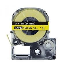 Absonik Penggantian Kaset Tape untuk EPSON LabelWorks LW-400 LW-500 LW-600P LW-700 LW-900P LW-1000P LC-5YBW9 (3/4